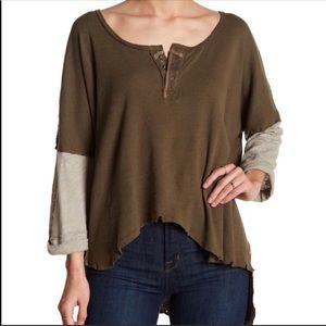 Free People Tops - Free People knit hi lo Henley